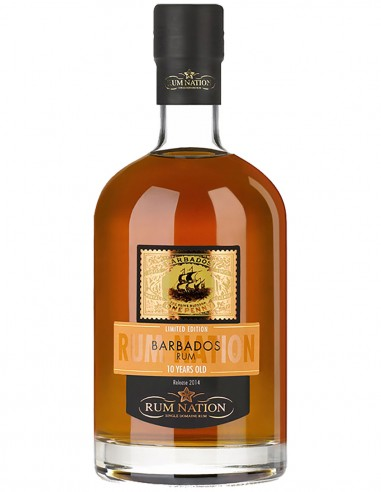 Rum Nation Barbados 10 ans 70 cl.