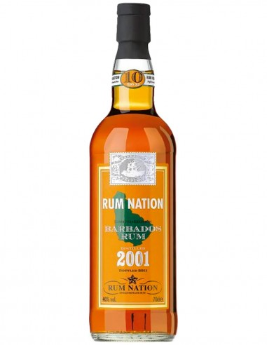 Rum Nation Barbados 10 ans 2001 70 cl.