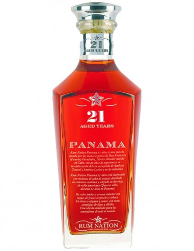 Ron Nation Panama 21 ans 70 cl.