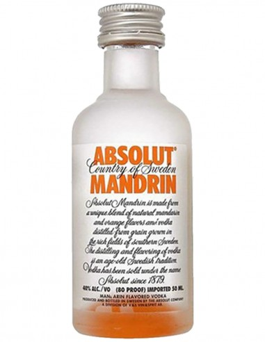 Vodka Absolut Mandarin Glas Mini 5 cl.