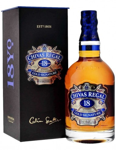 Blended Scotch Whisky Chivas Regal 18 ans étui 70 cl.