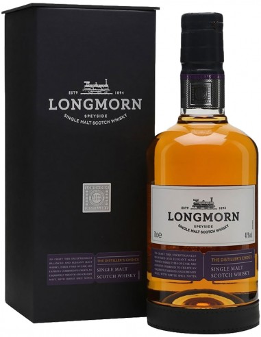 Single Malt Scotch Whisky Longmorn Distiller's Choice étui non-âgé 70 cl.