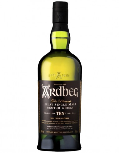Single Malt Scotch Whisky Ardbeg Non Chill-Filtered 10 ans 70 cl.