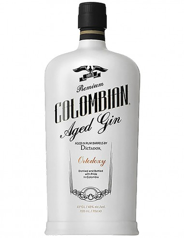 Gin Dictador Colombian Ortodoxy 43% White Bottle 70 cl.